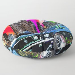 colorful muscle Floor Pillow