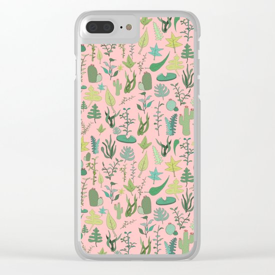 Nature Pink Clear iPhone Case