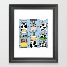 Cow story Framed Art Print