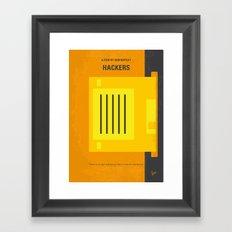 No684 My Hackers minimal movie poster Framed Art Print