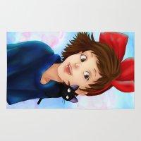 kiki Area & Throw Rugs featuring Kiki & Jiji by Hetty's Art