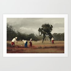 1920 - harvest Art Print