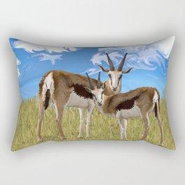 Grazing Gazelles Rectangular Pillow