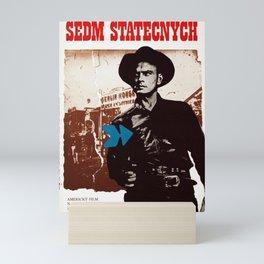 Vintage Czechoslovakian 1976 Poster - The Magnificent Seven Mini Art Print