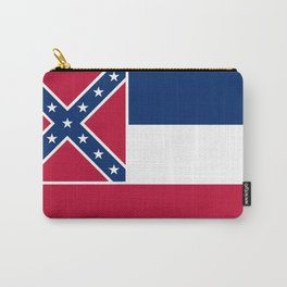 Mississippi State Flag, Authentic Version Carry-All Pouch