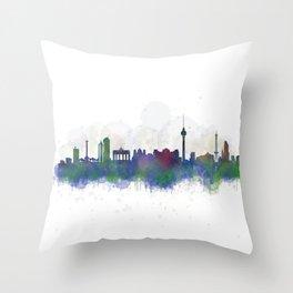 Berlin City Skyline HQ3 Throw Pillow