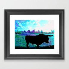 Bullish on Miami Framed Art Print
