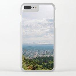 Portland Oregon City View Clear iPhone Case