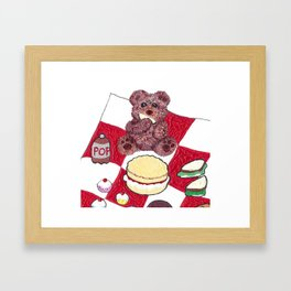 Teddy bear's picnic Framed Art Print
