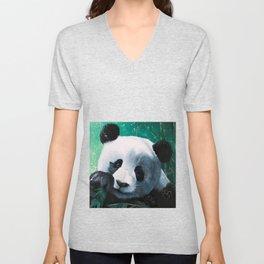 Panda - A little peckish - by LiliFlore Unisex V-Neck