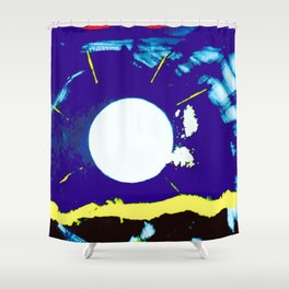 MOONLIGHT        by Kay Lipton Shower Curtain