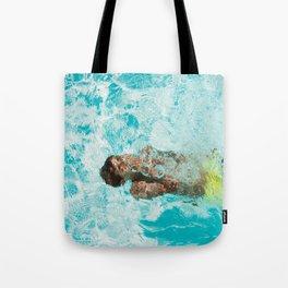 Underwater swimming Tote Bag