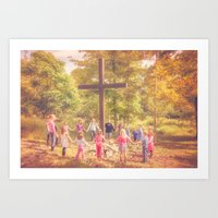 Gather At The Cross Art Print
