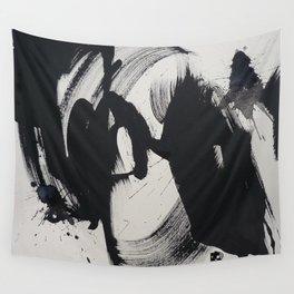 Informel black Wall Tapestry