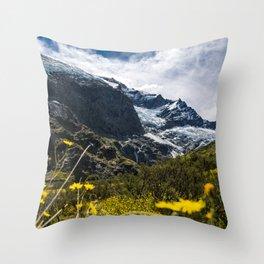 Flower Glacier Throw Pillow