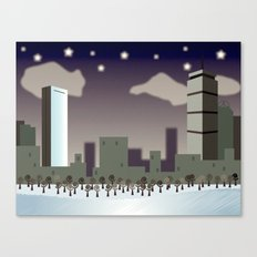 Back Bay Winter Canvas Print
