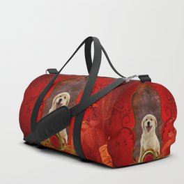 Beautiful golden retriever Duffle Bag