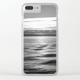 Crisscrossing Waves Clear iPhone Case