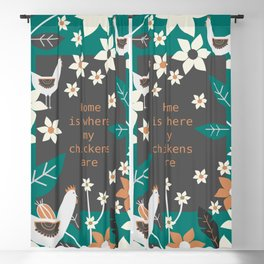 Home is where my chickens are Blackout Curtain