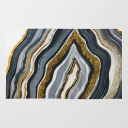 Grey and gold geode Rug