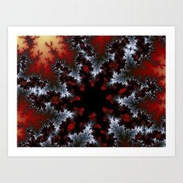 Winter Snowflakes Art Print