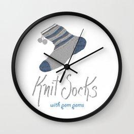 Knit Socks Wall Clock