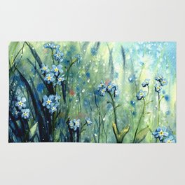 Forget me not flowers Rug