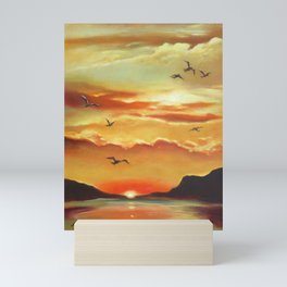 Sunset on the Lake Mini Art Print