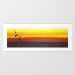 Two Windmills Art Print