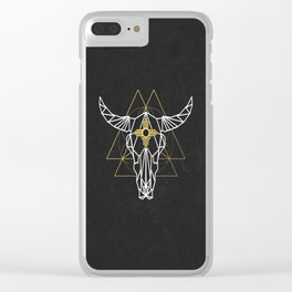 Cow Skull Zia Clear iPhone Case