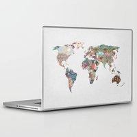 i love you to the moon and back Laptop & iPad Skins featuring Louis Armstrong Told Us So by Bianca Green