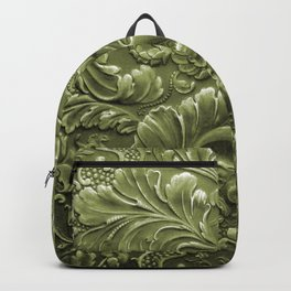 Celery Tooled Leather Backpack