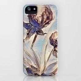 Blue Clover Art iPhone Case