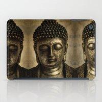 meditation iPad Cases featuring Meditation by inkedsandra