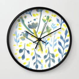 170814 Leaves Watercolour 9 Wall Clock