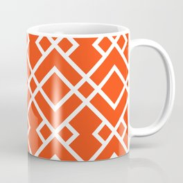 Florida fan gators university orange and blue team spirit football college sports lattice trellis Coffee Mug