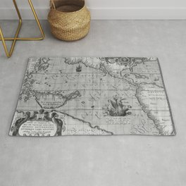 Old World Map print from 1589 Rug