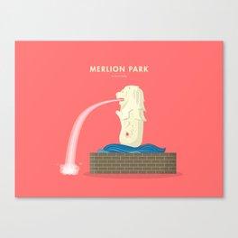 Merlion Park, Singapore [Building Singapore] Canvas Print