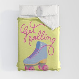 Get Rolling (Yellow Background) Duvet Cover
