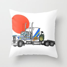No Trouble in Little Japan Throw Pillow
