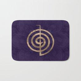 Cho Ku Rei - gold on purple lotus Bath Mat