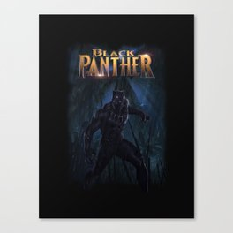 T'Challa , The Black Panther Canvas Print