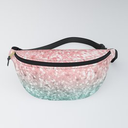 Summer Vibes Glitter #3 #coral #mint #shiny #decor #art #society6 Fanny Pack