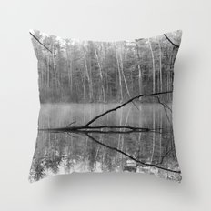 Black and White Reflections over Bluegill Bond Throw Pillow