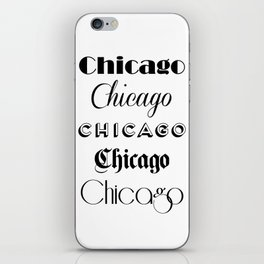 Chicago City Quote Sign, Calligraphy Text Art, Large Printable Photography, World City Print iPhone Skin