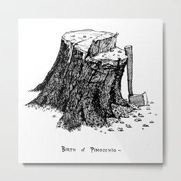 Birth of Pinocchio Metal Print
