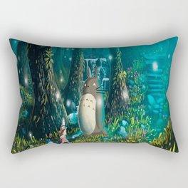 Totoro's In Jugle Rectangular Pillow