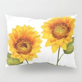 Sunflowers Illustration Pillow Sham