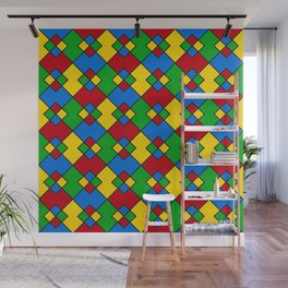 Phillip Gallant Media Design - Red, Blue, Green, And Yellow Design II Wall Mural