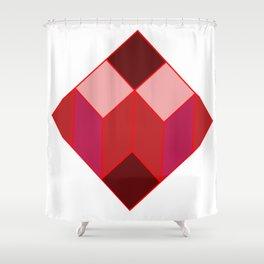 Dear white cube, Red spectrum Shower Curtain